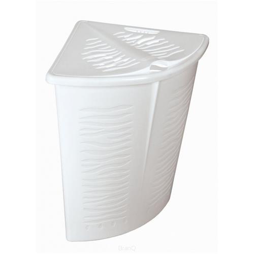Branq Narożny Kosz Na Bieliznę Zebra 45l Biały 1402