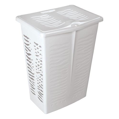 Branq Prostokątny Kosz Na Bieliznę Zebra 42l Biały 1403