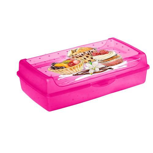 Keeeper Pojemnik Na Ciasto Cake-Box Nadruk Różowy