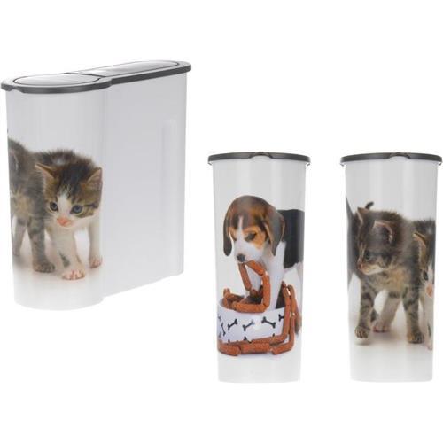 Pojemnik Na Karmę dla Psa Kota Plastik Wysoki 4l