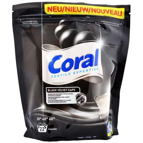Coral Kapsułki Velvet Black 22szt do czarnego
