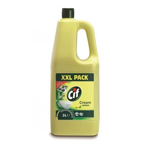 Cif Professional Cream Lemon 2l Żółte Mleczko Do Czyszczenia