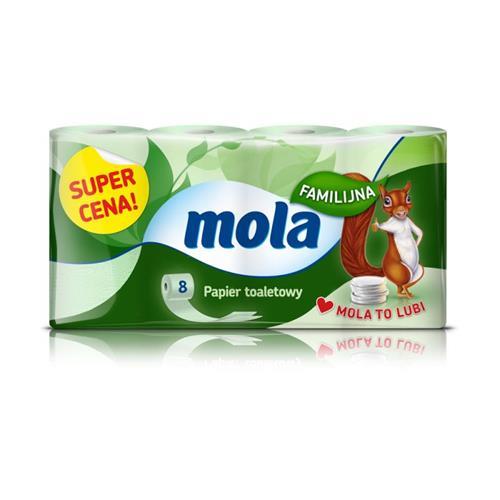 Mola Papier Toaletowy Zielony Familijny A8