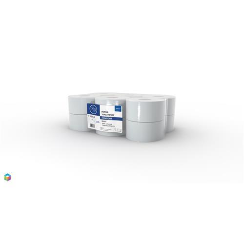 Papier Toaletowy Jumbo Biały Comfort T130/2 100% Celulozy