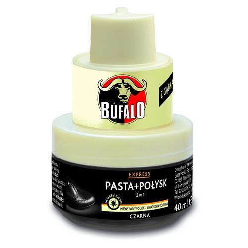 Bufalo 2w1 Pasta + Połysk Do Butów Czarna 40ml