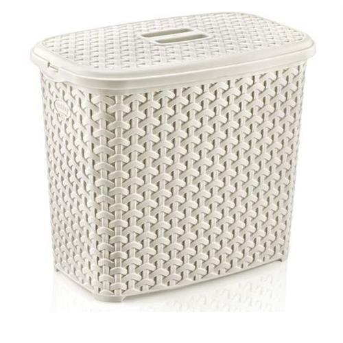 Pojemnik Na Detergenty Z Pokrywą Rattan 6l 9233 Biały