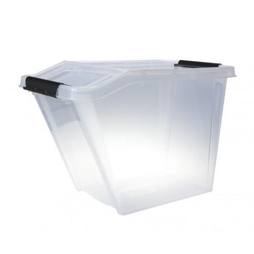 Plast Team Pojemnik Top Store 58l Uchylny Transparentny 2379