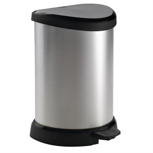 Curver Kosz Na Śmieci Z Pedałem 20l Metal Bin Srebrny 169795