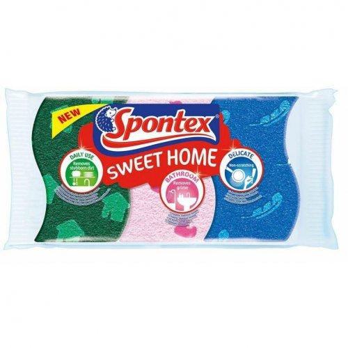 Spontex Zmywak Celuloza Sweet Home 3szt 97070297