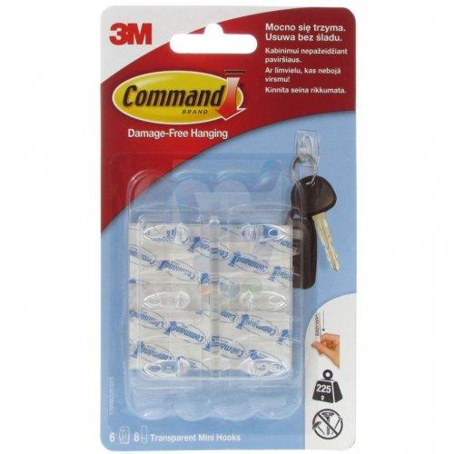 3M Command Haczyki 6 szt plastikowe 17006 3M