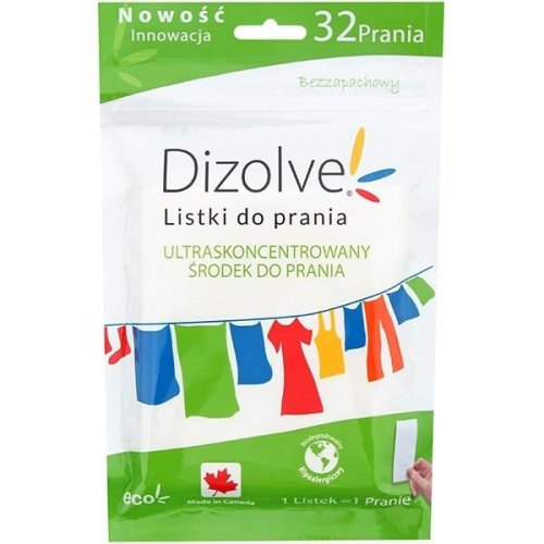 Dizolve Listki Do Prania Bezzapachowe 32 prań Hipoalergiczne
