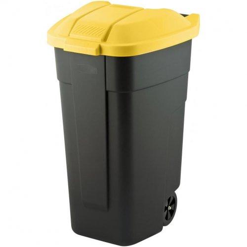 Curver Pojemnik Kosz Na Śmieci Na Kółkach 110l Żółty 214128