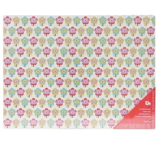 Deska Szklana 30x40cm Kwiatki Jabłka H