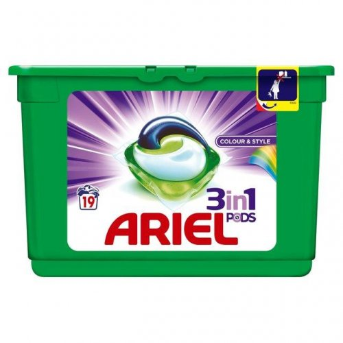 Ariel Kapsułki Żelowe 3w1 Color 19szt Procter Gamble