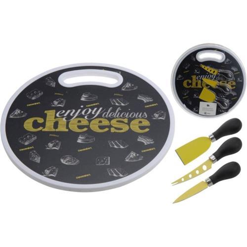 Zestaw Cheese Deska Do Krojenia Z Nożami H