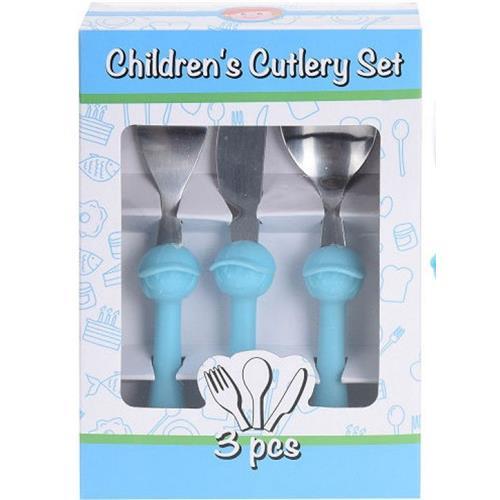 Sztućce Dla Dzieci Stalowo Plastikowe 2 Kolory H