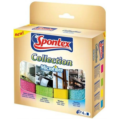 Spontex Ścierka Microfibra Collection 4szt 97044095