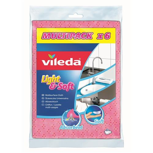 Vileda Ścierka Light Soft 6szt 150539
