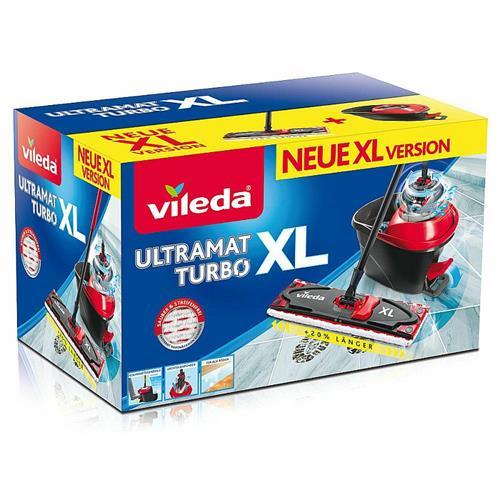 Vileda Ultramat Turbo Płaski XL 161023 Zestaw Mop + Wiadro