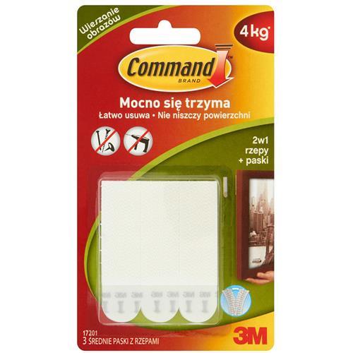 3M Command Rzepy Do Wieszania Obrazów Średnie 4 Pary (8szt) 17201-Cee 3M
