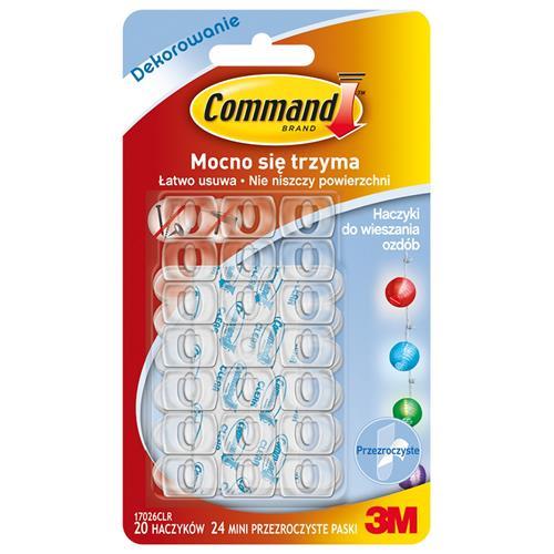 3M Command Haczyki 20szt plastikowe 17026clr 3M