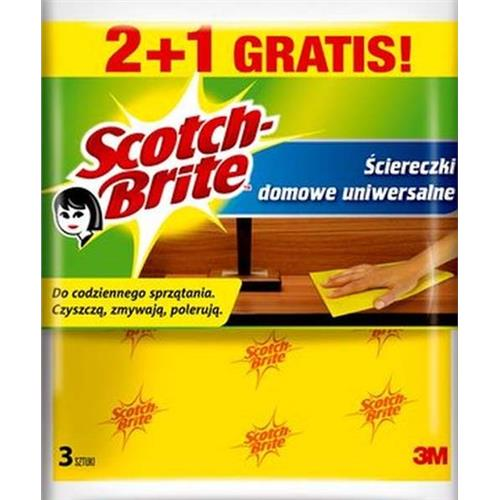 3M Scotch Brite Ścierka Domowa Uniwersalna 2+1