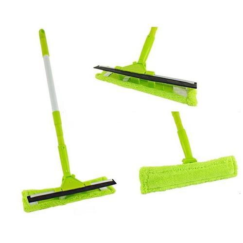 Myjka Mop Do Szyb Z Mikrofibrą Z Drążkiem Teleskopowym Zielona 3227 CH