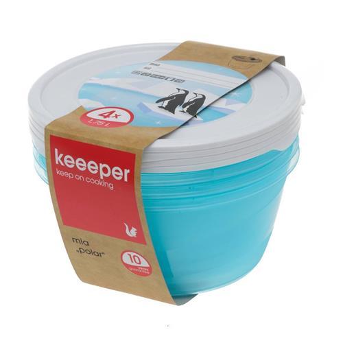 Keeeper Komplet Pojemników Polar Okrągłych 4x1,75l 3069