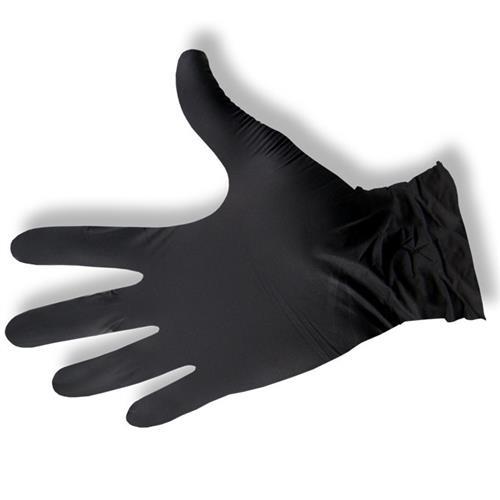 Rękawice zabiegowe nitrylowe M czarne Maxsafe bezpudrowe 100szt