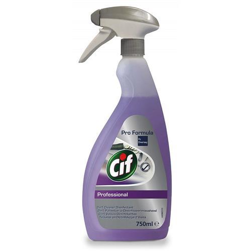 Cif Professional Cleaner Disinfectant 750ml Do Mycia I Dezynfekcji Powierzchni I Urządzeń W Gastronomii