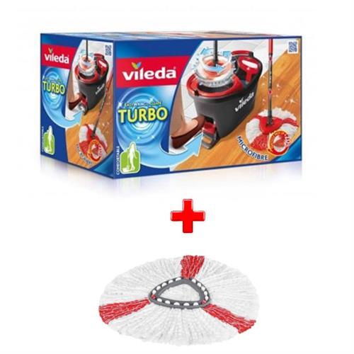 Vileda Zestaw Easy Wring Turbo + Wkład Turbo Czerwony 151608