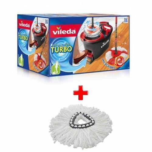 Vileda Zestaw Easy Wring Turbo + Wkład Turbo Biały 152623