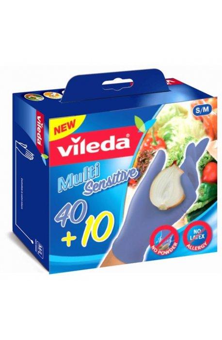 Rękawice - Rękawice Multisensitive 50szt M/L 146084 Vileda -