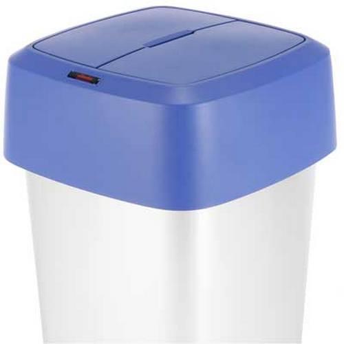 Kosze do segregacji śmieci - Vileda Iris kwadratowa pokrywa zamykana niebieska 137677 Vileda Professional -