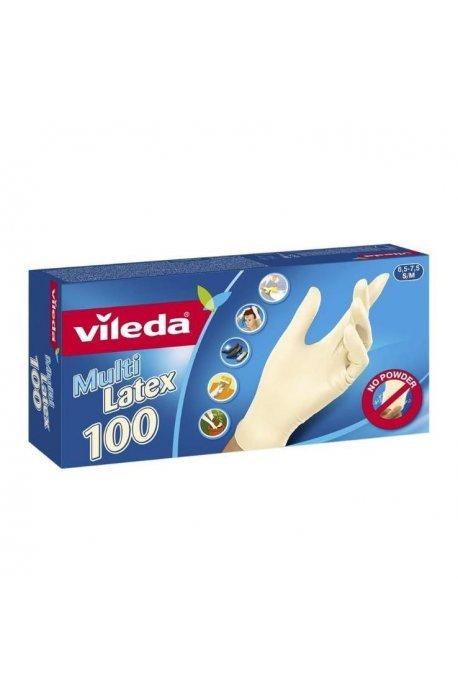 Rękawice - Rękawice Multi Latex 100szt 146087 Vileda -
