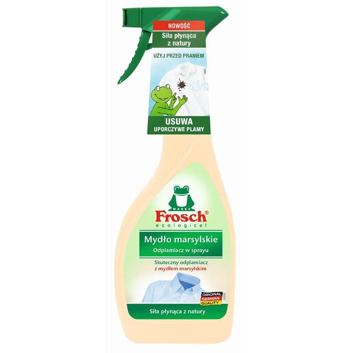 Odplamiacze do tkanin - Frosch Odplamiacz W Sprayu 500ml Mydło Marsylskie -
