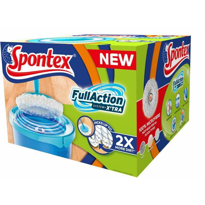 Zestawy sprzątające - Spontex Full Action + Xtra System Zestaw Mop + Wiadro 97050349 -