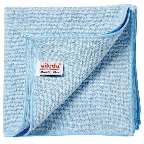 Gąbki, ścierki, szczotki - Vileda Ścierka Microtuff Plus Niebieska 111952 Vileda Professional -