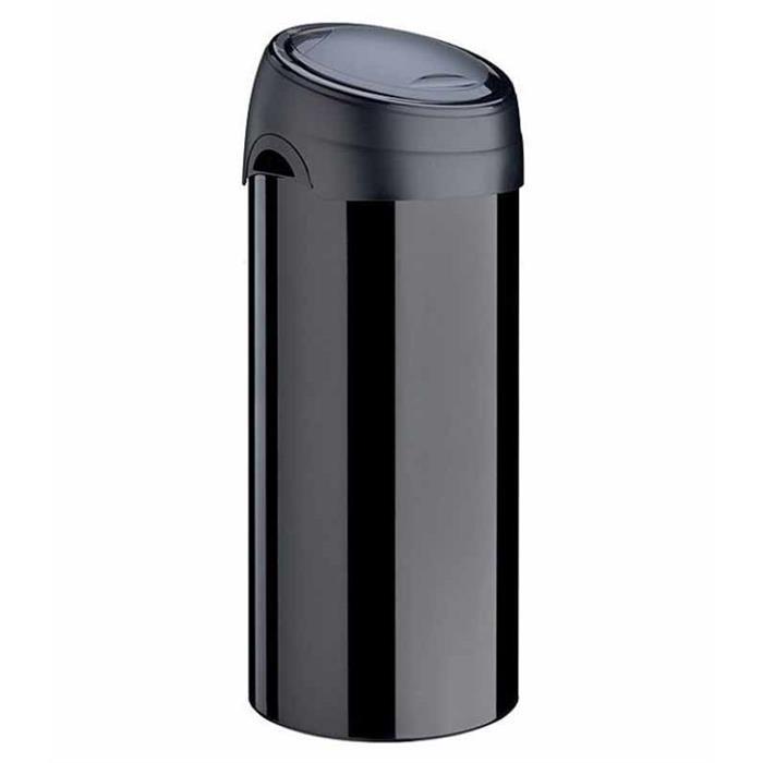 Kosze do segregacji śmieci - Kosz na śmieci Soft Touch 60l stal czarny Meliconi -