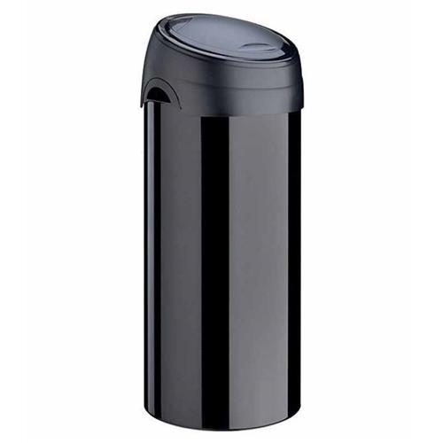 Kosz na śmieci śmieci Soft Touch 40l stal czarny Meliconi