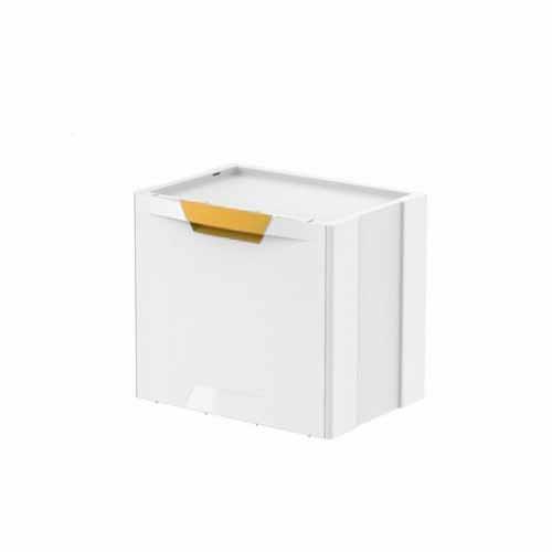 Kosz na śmieci Ecocubes 22l biało-żółty segregacja eko Meliconi