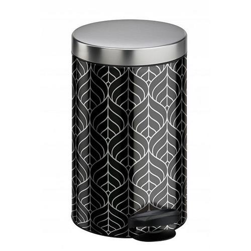 Kosz Na Śmieci Na Pedał New Line 14l Art Deco Srebrny Meliconi