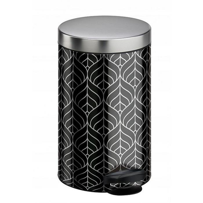 Kosze do segregacji śmieci - Kosz Na Śmieci Na Pedał New Line 14l Art Deco Srebrny Meliconi -