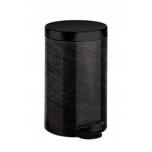 Kosz Na Śmieci Na Pedał New Line 14l Art Deco Czarny Marmur Meliconi