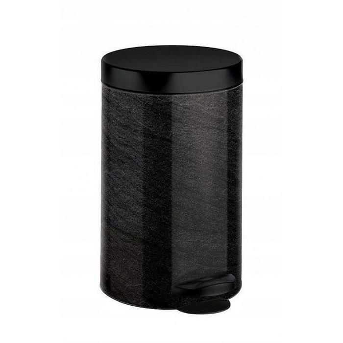 Kosze do segregacji śmieci - Kosz Na Śmieci Na Pedał New Line 14l Art Deco Czarny Marmur Meliconi -