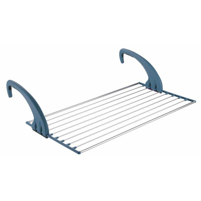 Suszarki - Suszarka Na Bieliznę Na Balkon Lock Balcony 10m Niebieska Meliconi -