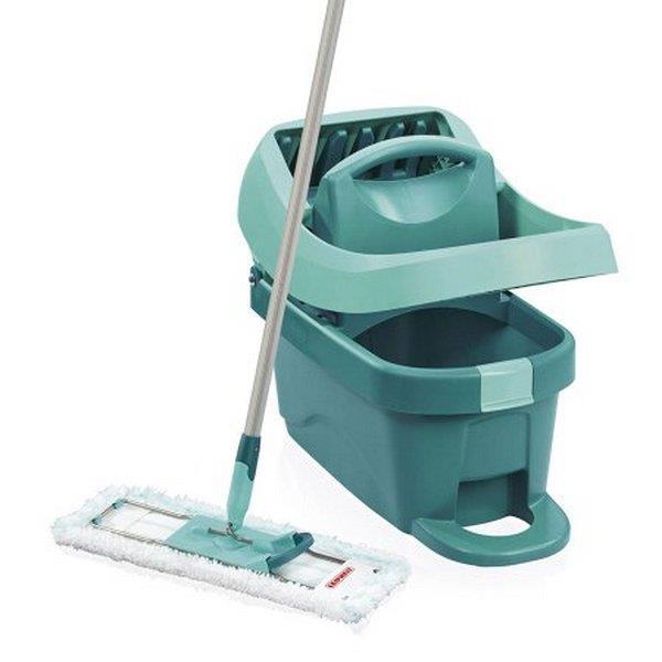 Zestawy sprzątające - Leifheit Zestaw Profi Xl Mobile Mop + WiadroNa Kółkach 55096 -
