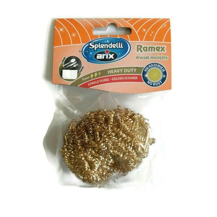 Druciaki, czyściki, zmywaki - Arix Druciak mosiężny delikatny Ramex T55001 -
