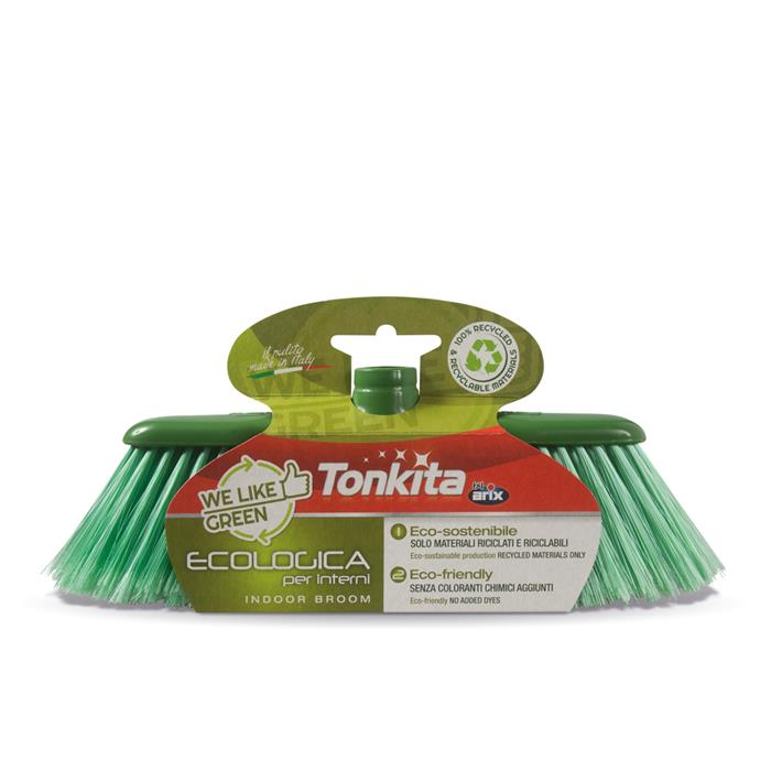 Szczotki - Arix Tonikta Szczotka Miotła Ecologica Zielona Tk670 -