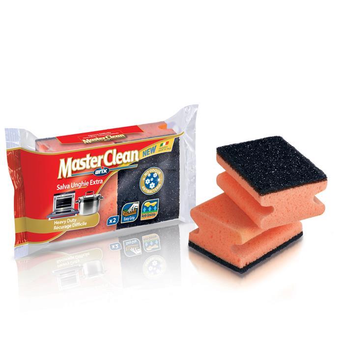 Druciaki, czyściki, zmywaki - Arix Master Clean Zmywak Do Mocnych Zabrudzeń 2szt T112480 -